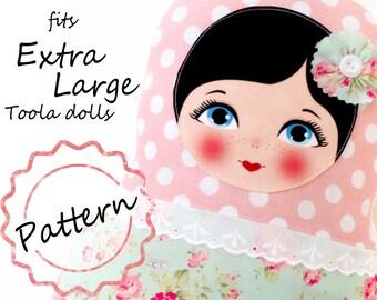 Printable Pattern PDF File, size Extra Large, Toola Babushka Matryoshka Doll