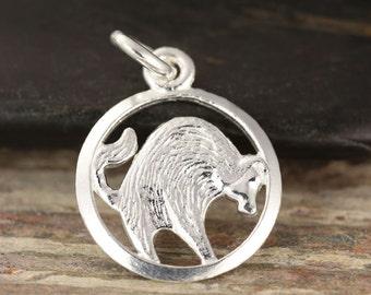 Taurus zodiac pendant in sterling silver - Taurus necklace, zodiac necklace, zodiac jewelry, astrology