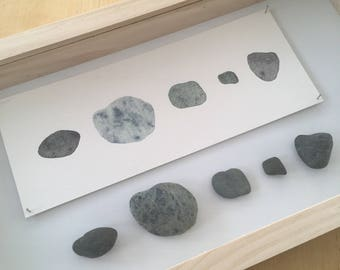 Rocks from Sonoma County, CA shadowbox