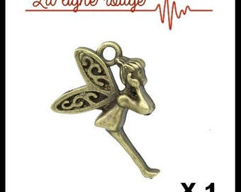 Fairy Wings Butterfly Antique Bronze pendant