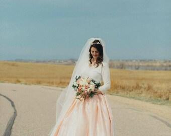 Pale wedding skirt Organza skirt Satin skirt Lace gown Blush bridal skirt Princess gown Crinoline Ball gown skirt Full skirt Custom skirt