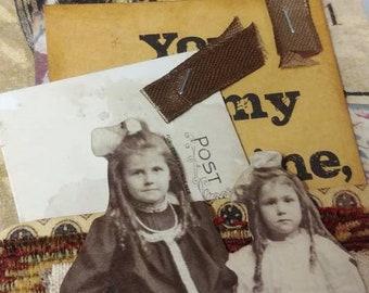 Large Altered Vintage Tags