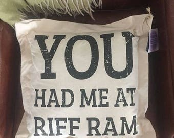 "TCU decorative pillow... Choice of ""Riff Ram Bah Zoo"" ""You had me at Riff Ram"" and ""Texas Home"""