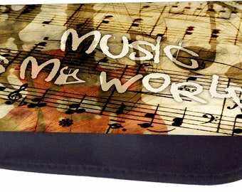 Muisc Is My World Black Pencil Bag - Pencil Case