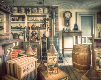 Old General Store Photograph, Antiques and Vintage Items, Nostalgic, Historical , Vintage Fine Art Photography Print, Signed