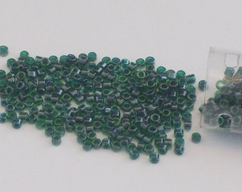 Emerald Green Japanese Glass Delica Beads // Size 11 Dark Green Seed Beads // 11/0 Beads // St. Patrick's Day Crafts