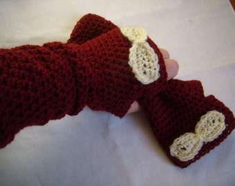 fingerless gloves hand crochet, Fingerless gloves crocheted hand Warmers, Burgundy/rust