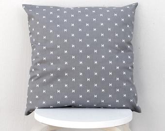 Gray lightning bolt pillow case, Thunderbolt cushion cover