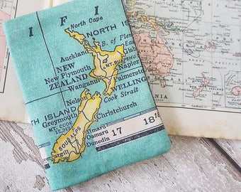 Passport Case with Personalised Map Print - vintage map, cartography, passport holder, passport cover