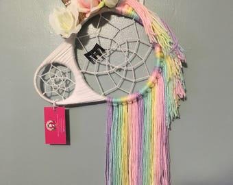 Unicorn Dreamcatcher, Dream Catcher, Wall Hanging, Nursery Decor
