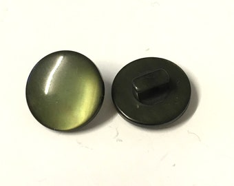 10, olive green resin shank buttons, 14mm green buttons, green resin buttons, green buttons, craft buttons, sweater buttons, buttons uk