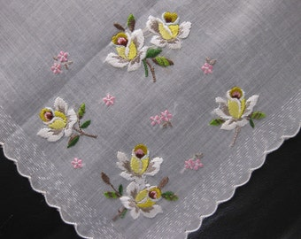Vintage Handkerchief For The Bride To Be For Something Old