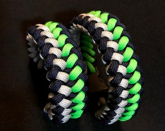 Go Seahawks!!!  Pair of Seahawks themed Bracelets.