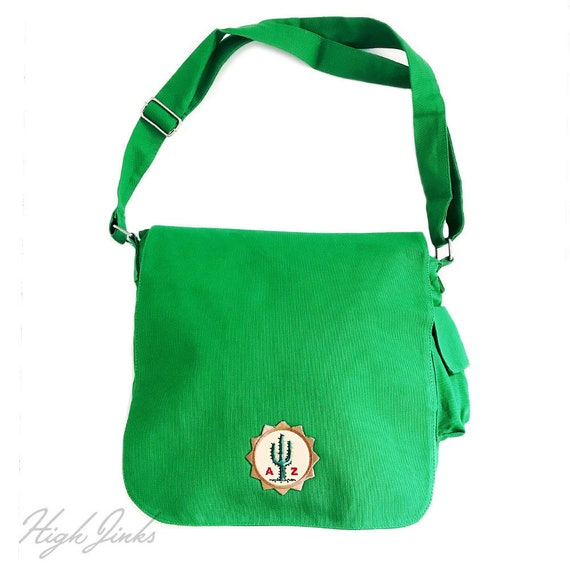 Sunny AZ : Patched Messenger Tote