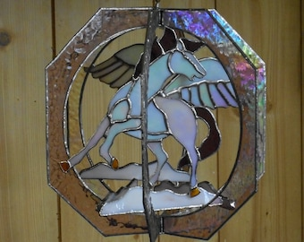 Stained Glass Pegasus Whirl - Handcrafted in Tennessee
