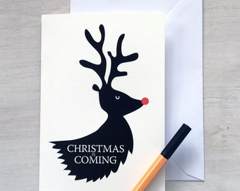 Game of Thrones Christmas Card - Game of Thrones Card - Christmas is Coming