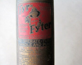 Antique Fyr Fyter Fire Extinguisher, Vintage Industrial Brass, 1920's 1930's, Vintage Firehouse, Fireman, Antique Fire Extinguisher