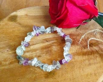 Bracelet: genuine fluorite