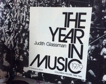 Vintage Columbia House Book / The Year in Music / Record Club Book / Book on 70 s Music / Columbia House Record Club Book / Music Book