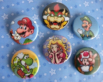 Mario and Friends Button Set