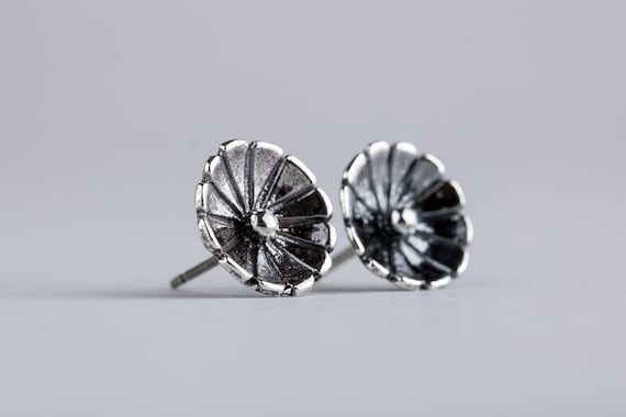Wildflower Stud Earrings in Sterling Silver