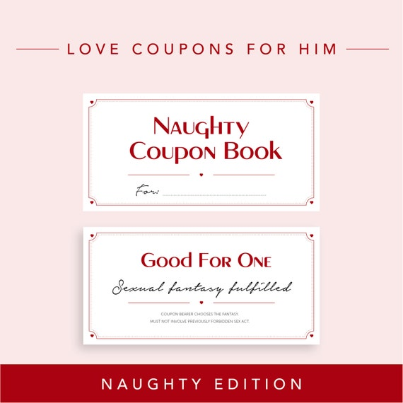 Naughty Edition // Love Coupons for Boyfriend, Valentine's day gift, DIY Printable  Coupon Book, Husband Gift