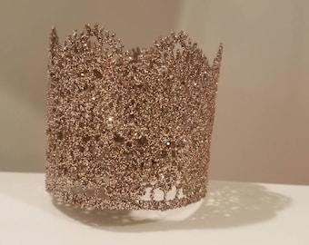 Lace glitter crown