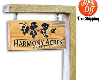 Yard Art.Custom Yard Sign.Outdoor Sign.Outdoor Yard Sign.Outdoor Address Sign.Hanging Sign.Driveway Sign.Custom Business Sign (Yard Sign)