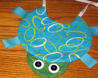 Handmade  baby bib - turtle