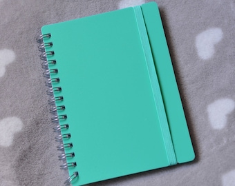 Mint green lines A6 spiral notebook