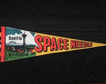 Vintage Seattle Space Needle Pennant