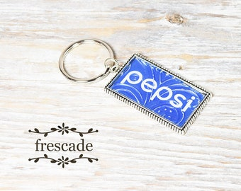 Pepsi Keychain Recycled Soda Can