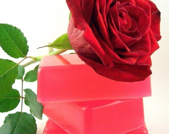 Fresh Cut Roses Soap, Handmade Rose Scented Soap, Gift for Her