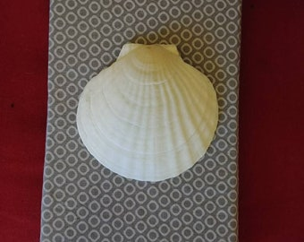 Nautical beach wall art scallop shell 1 of 4