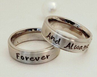 Engraved wedding band Etsy