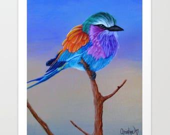"Bird Art Print ""Pretty Bird"""