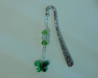 Beautiful bookmark silver color green