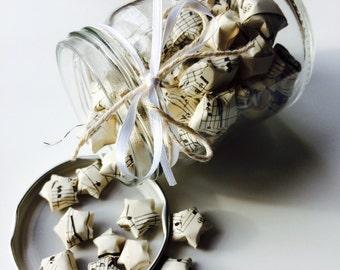Origami | Lucky Star | Music | Retro | Monochrome | Jar | Gift | Wedding | Home
