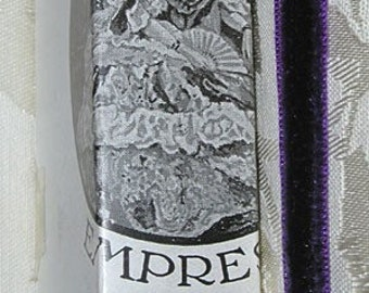Vintage French Empress Silk Velvet Ribbon 1920's 1/4 inch Gorgeous Violet