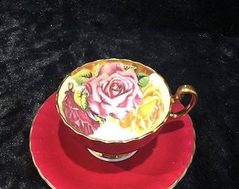 Rare Aynsley large rose tea cup