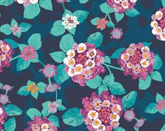 Art Gallery Fabrics - Lantana Teal from Mediterraneo by Katarina Roccella