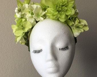 """Kiwi green """"Tish"""" flower crown"""