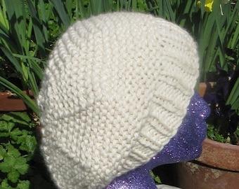 HALF PRICE SALE Instant digital file pdf download Superfast Garter Stitch Tam Slouch Hat pdf knitting pattern