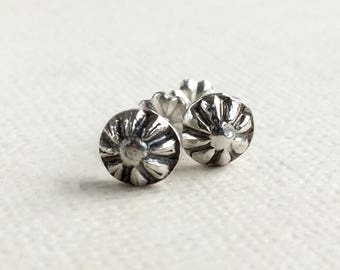 Starburst Stud Earrings - Sterling Silver - Stud Earrings - Simple Studs for Him or Her - Small Stud Earrings