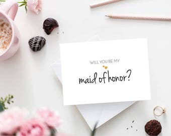 Will You Be My Maid of Honor / Maid of Honor Proposal Card / Bridal Party Cards / Wedding Party Proposal / I Can't Say I Do Without You Card