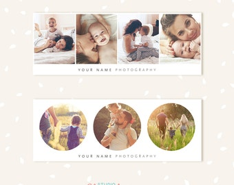 Facebook Timeline Cover, Facebook Timeline Template, Facebook Cover Template, Facebook Cover Photo, Facebook banner, Circles collage gallery