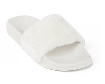White Fur Slides *Pre-order*