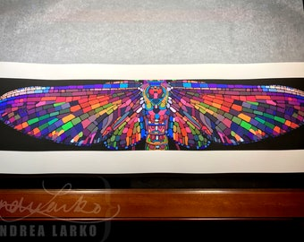 Archival Mayfly Wings Limited Edition Giclee Print 11.75x36