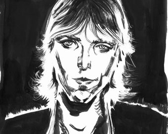 Inktober Day 6 Tom Petty Original Art