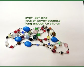 Bead Soup Necklace ... One Of A Kind ... Long Necklace with a Variety of Beads